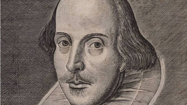Who is he in this picture? For help here are some of his well-known works: Midsummer Night's Dream, Hamlet, Romeo and Juliet.