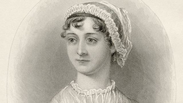 Who is she in this picture? For help here are some of her well-known works: Pride and Prejudice, Sense and Sensibility, Emma.