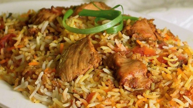 Which nation's typical food is Biryani spicy rice chicken?