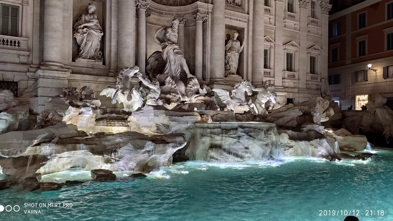 Where is the Trevi Fountain in Italy?