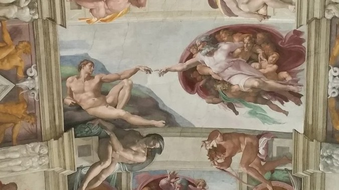 Who painted the popular fresco known as 'The Creation of Adam'?